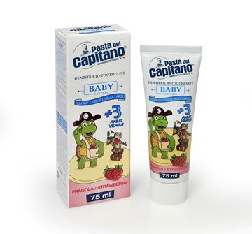 Picture of Pasta del Capitano baby toothpaste + 3 years strawberry 75 ml