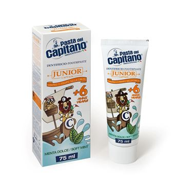 Picture of Pasta del Capitano junior toothpaste +6 years soft mynt 75 ml