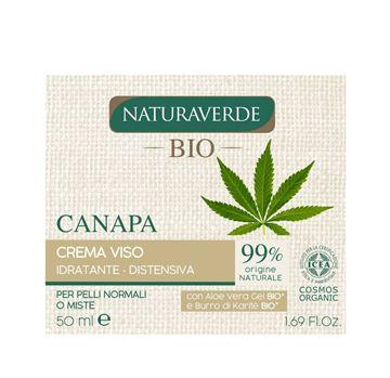 Immagine di Naturaverde bio crema viso idratante distensiva canapa 50 ml