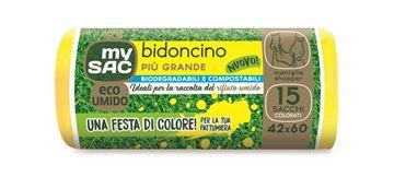 Immagine di My Sac sacchetto umido biodegradabile 42X60 15 pz con maniglia