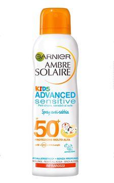 garnier-ambre solaire-kids advanced sensitive-spray anti sabbia-50+