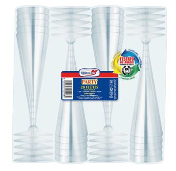 bicchieri traspar-flut x 20