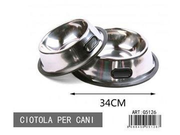 Picture of CIOTOLA CANI G5126 CM 33 ROTONDA METALLO